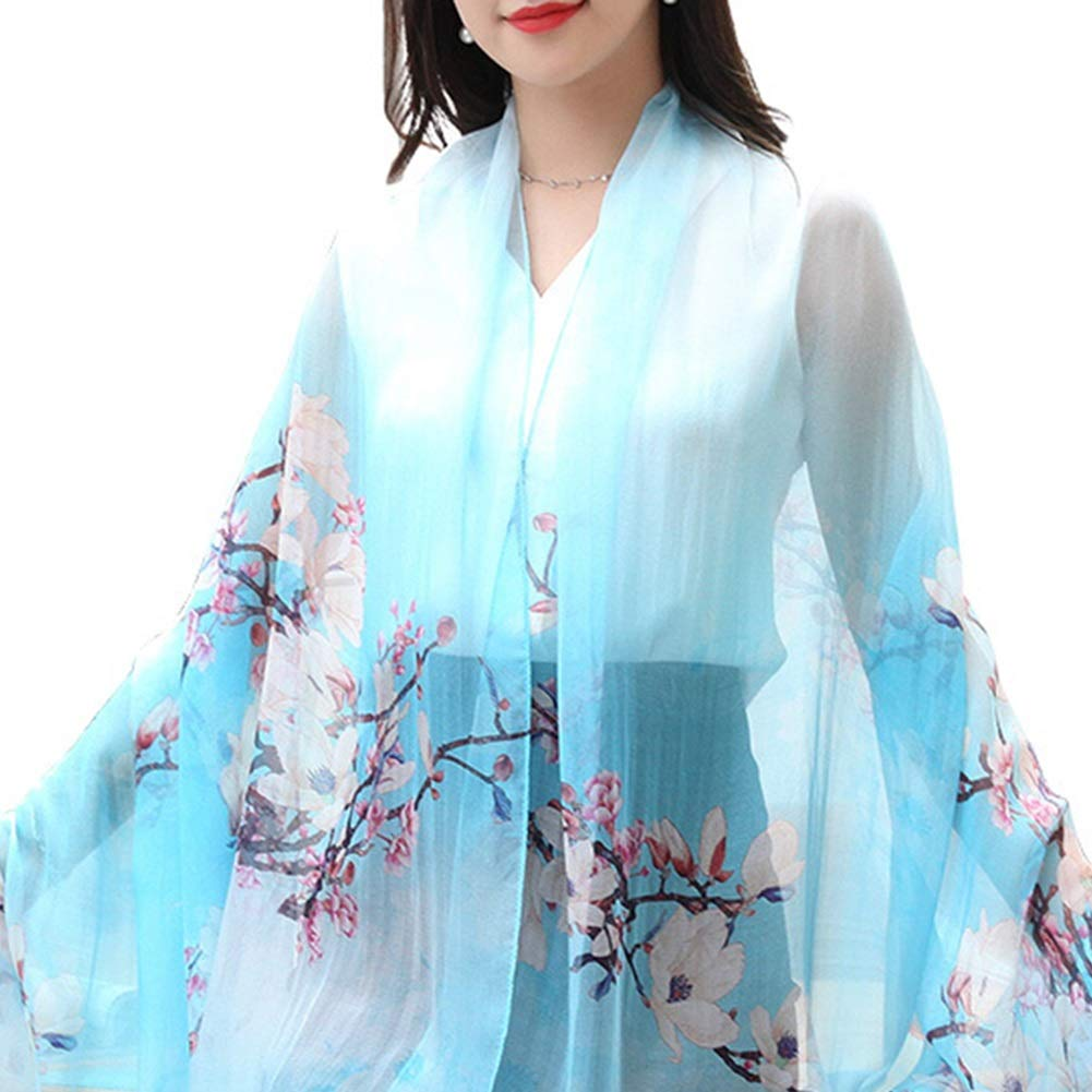 4 Long Scarves Wrap Shawl Long Stole Thick Style Scarf Headscarf Neck Wrap Stole MufflerSilk Spring, Summer and Autumn Shawl Shawl Dual Purpose HENGXIAO (color    2, Size   175  110cm)