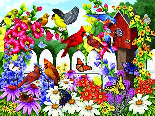 Sunsout 2019 Backyard Babies by Artist Nancy Wernerbach 300 Piece Birds Jigsaw Puzzle ()