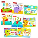 Fisher Price Baby Toddler Beginnings Board Books Super Set (Set of 8 Toddler Books)