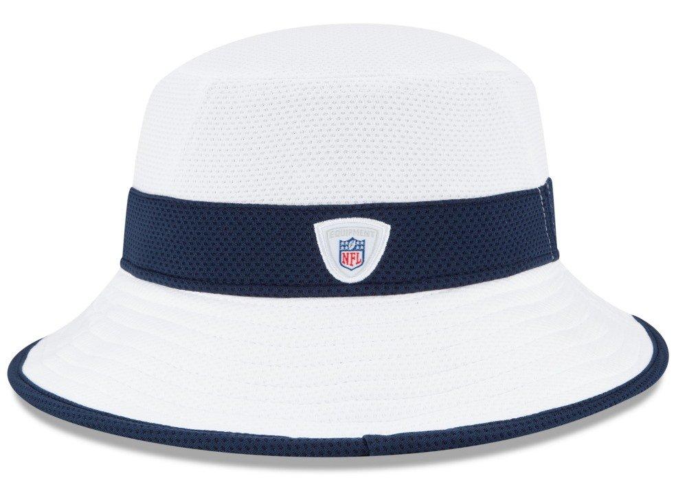 18c13d19f62 Amazon.com   New England Patriots New Era NFL 2015 Training Camp Sideline Bucket  Hat - White   Sports   Outdoors