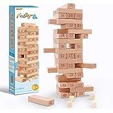 AthnaL バランスゲーム テーブルゲーム パーティゲーム ハラハラドキドキ 木製ジェンガ ドミノ 積み木 無限大の遊び方 大人も子供も楽しめる