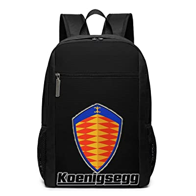 Syins Koenigsegg Automotive AB Schoolbag, 17 Inch Classic Knapsack For Men Women: Clothing