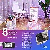 Lyhope 12ft x 5ft 360 LED Decorative Net Lights, 8