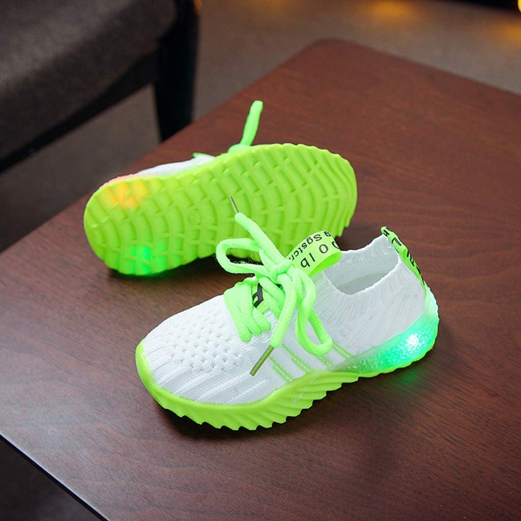 Zapatos Ni/ña,JiaMeng Zapatilla de Deporte para Correr Zapatos de beb/é para ni/ñas Zapatos Luminosos LED para ni/ños