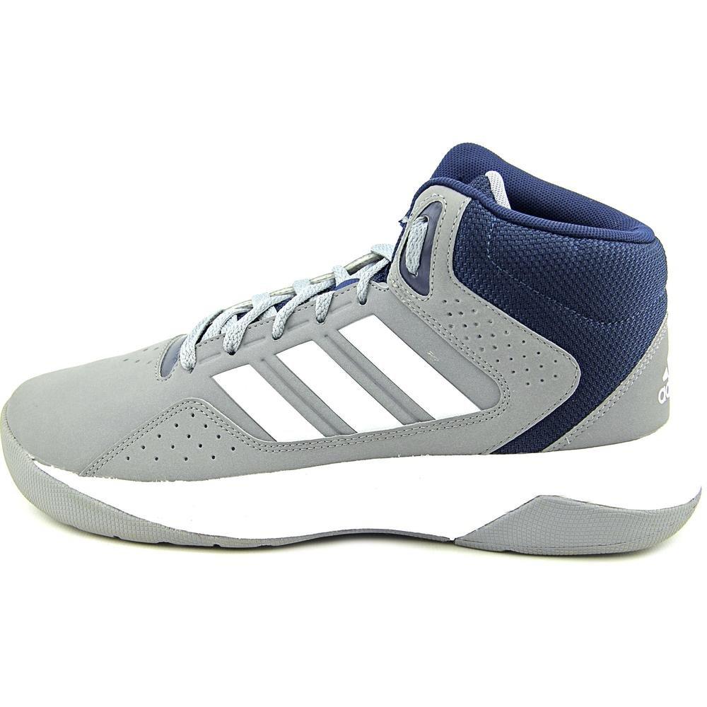 adidas Performance Men's Cloudfoam Ilation Mid Basketball Shoe,GreyWhiteCollegiate Navy,10 M US
