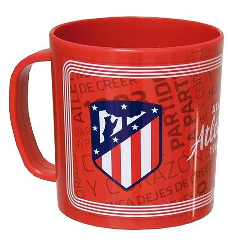 CYP Atletico DE Madrid Taza de plastico Apta para microondas, Multicolor, 0