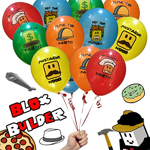 20 Pack - Pro Blox Builder Birthday Party Favor Decorations Balloons - Great for Video Game Truck Parties, Roblox Masters, Miner Builders