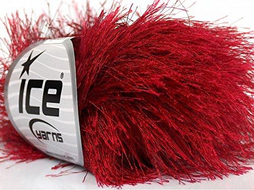 dark-red-long-eyelash-yarn-ice-luxurious-fun-fur-50gr-38yds