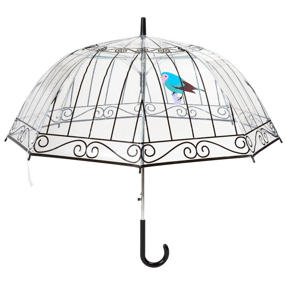 La chaise longue 36-1F-003 Parapluie cloche Cage à oiseaux Transparent Ouverture automatique Ambiance-Live Group