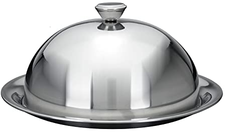Stainless Steel Food Cover Cloche Plate Platter with Domed Cover Serving Dish (30cm)  sc 1 st  Amazon UK & Stainless Steel Food Cover Cloche Plate Platter with Domed Cover ...