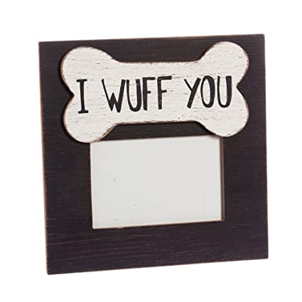 Amazon.com - Cypress Home I Wuff You 4x6 Wooden Picture Frame -