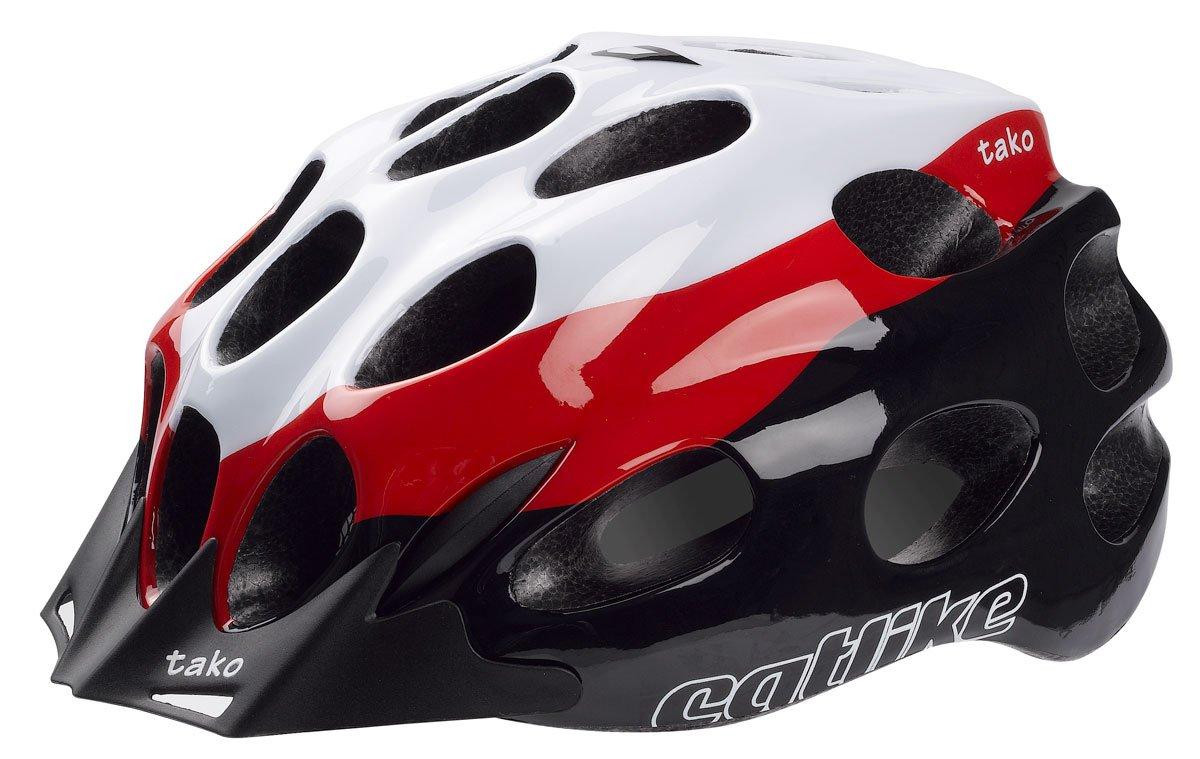 Catlike Fahrradhelm Helm 2014 – Tako weiß-rot-schwarz MD