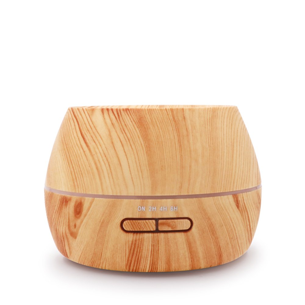 hysure Baby humidifier Essential Oils diffuser Mini Humidifier with Wood Grain Air humidifier for Kids, Home, Room, Spa, Desktop and Whole house, Light