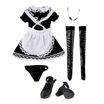 Amazon.es: P Prettyia Kit de Traje de Vestido de Mucama con ...