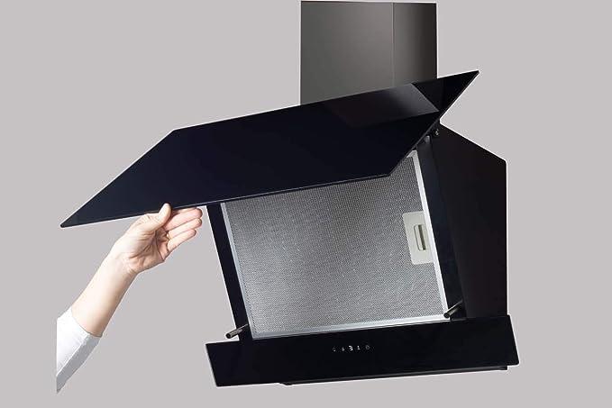 CATA JUNO 700XGBK 575 m³/h De pared Negro A+ - Campana (575 m³/h, Canalizado/Recirculación, A, B, E, 61 dB): Amazon.es: Grandes electrodomésticos