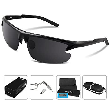7fd866dac9 COSVER 8123 Fashion Polarized Sport Sunglasses for Mens Women Driving  Running Fishing Golf Aviator Unbreakable -