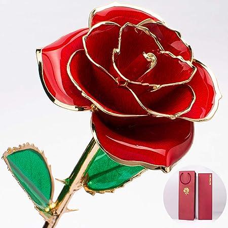 A&D Regalo De Oro Rosa De 24 Quilates Artificial Forever ...