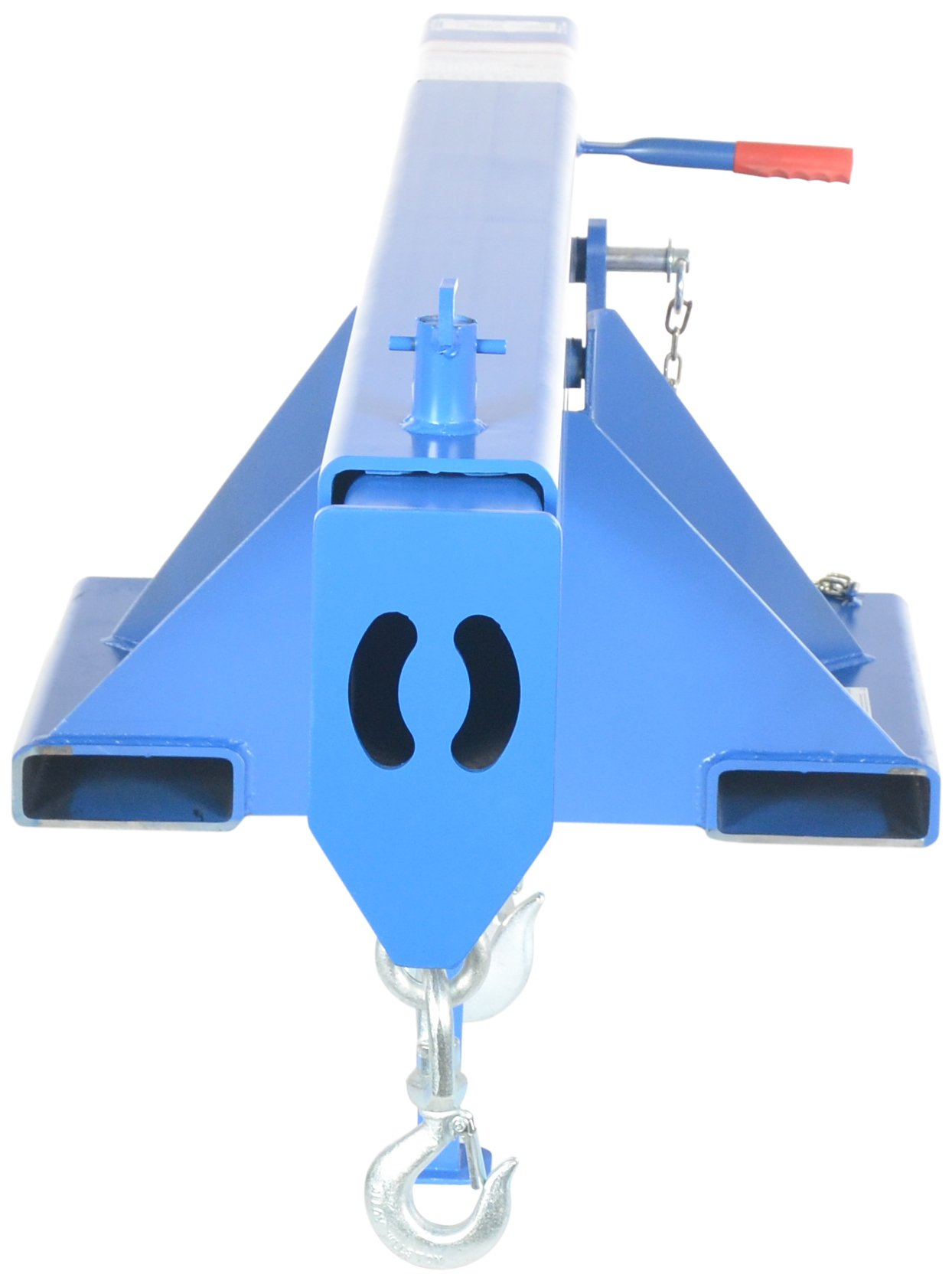 Vestil LM-OBNT-8-24 Orbit Non-Telescoping Lift Boom, 8000 lb Capacity, 24'' Fork Pocket Center, Overall LxWxH (in.) 32 x 79.5 x 25.125, Overall Extended Length (in.) 79-1/2, Blue