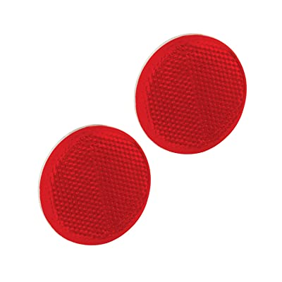 "Bargman 71-55-010 Round Adhesive-Mount Reflector-Red, 2-3/16"": Automotive"