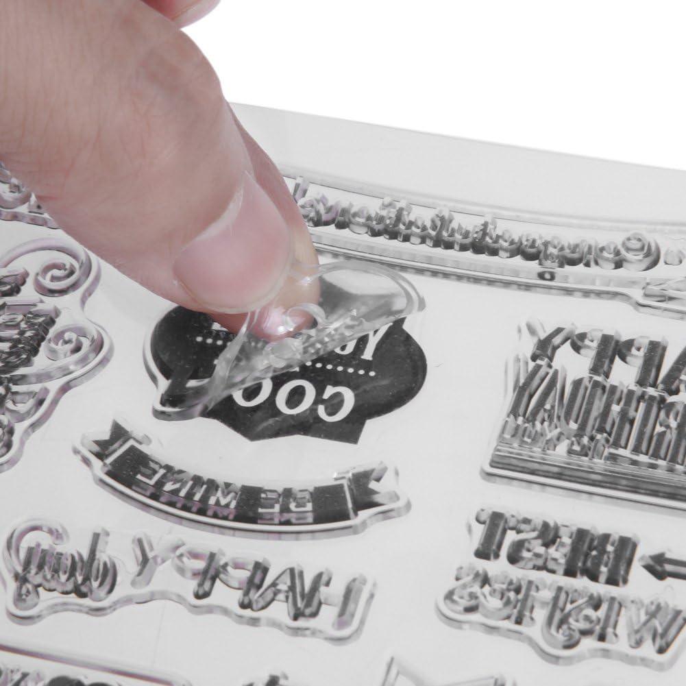 JUNERAIN Transparente Sello Claro Bricolaje Sellos de Silicona Scrapbooking decoraci/ón de la Tarjeta