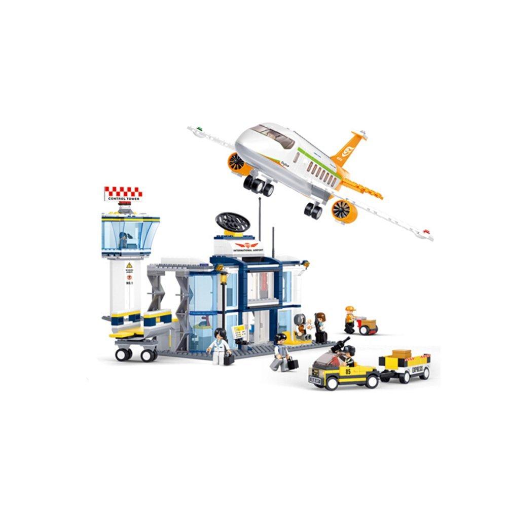 más orden Sunasd Juegos De Construcción Juegos De Construcción Juguetes Ensamblaje De De De Bloques De Construcción Modelos De Avión Juguetes para Niños Regalos De Cumpleaños, Aeropuerto Internacional  mas barato