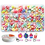 Pnbb Colorful Acrylic Beads Toy DIY Jewelry for Children Necklace and Bracelet Crafts - Style a...