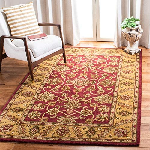 Safavieh Golden Jaipur Collection GJ250C Handmade Burgundy and Gold Premium Wool Area Rug 12' x 15'