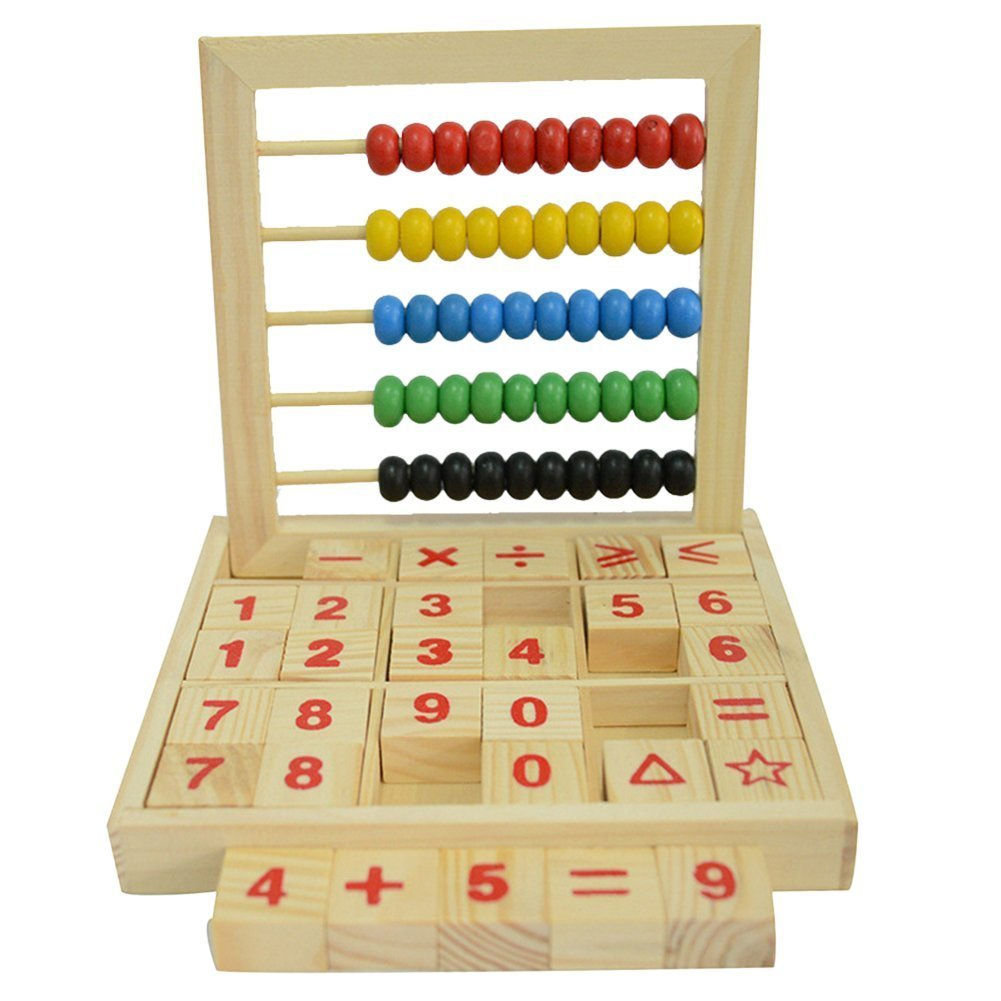 Colorful Beads Wooden Abacus Mathematics Educational Counting Number Blocks Maths Toys for Kids Haifly