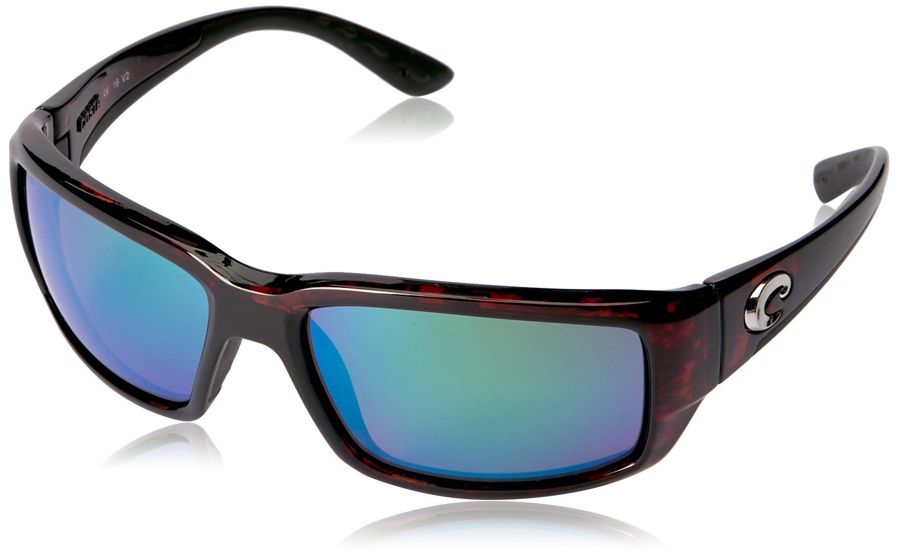 Costa del Mar Unisex-Adult Fantail TF 10 OGMGLP Polarized Iridium Rectangular Sunglasses, Tortoise, 59.3 mm by Costa Del Mar