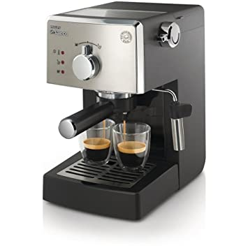 Saeco HD8425/11 Máquina para café espresso manual Poemia 950 W Color Negro: Amazon.es: Hogar