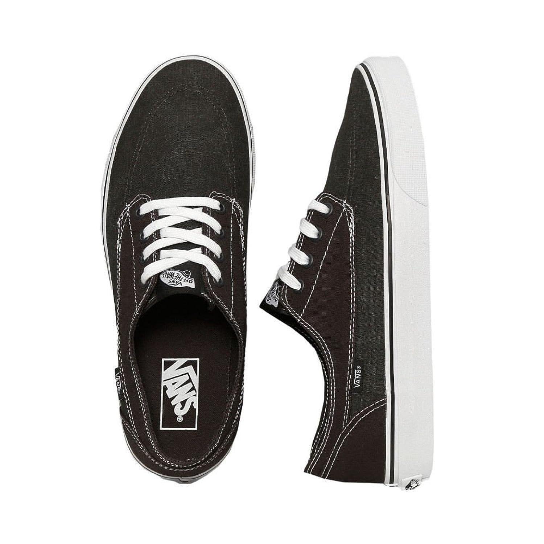 (ヴァンズ) Vans メンズ シューズ靴 スニーカー Brigata Washed Canvas Pirate Black/White [並行輸入品] B07B9WS1Q9