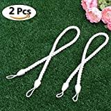 white outdoor curtains - NICETOWN Rope Cord Curtains Tiebacks - Tie Pull Back Cord Buckle Holdbacks for Outdoor Curtains by (30