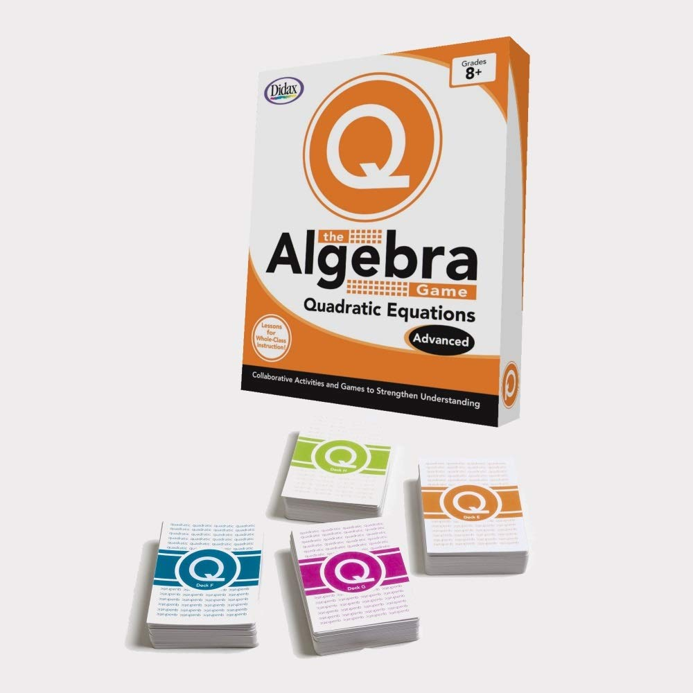 Didax Educational Resources The Algebra Game: Quadratic Equations Advanced Educational Game