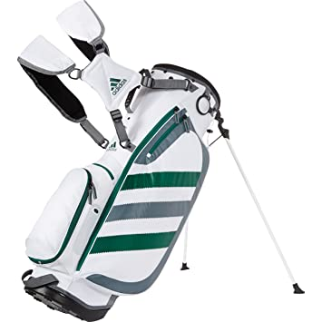 2015 Adidas Clutch Carry Bag Golf Stand Bag 6-Way Divider White Green 8f657c8be7bf6