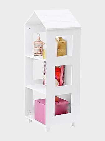 DZW Nordic Style Home Kreative Kleine Haus Boden Bücherregal ...