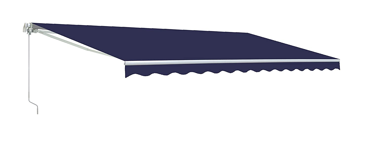 Aleko AW13X10BLUE30-APE Retractable Awning 13 x 10 Ft. Solid Blue Color B00PVX3T18