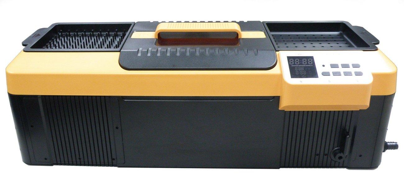 iSonic P4890(II) Commercial Ultrasonic Cleaner, Plastic Basket, Heater, Drain, 110V, 2.3Gallons / 9 Litre, 25.5'' Long Tank, Orange/ Black
