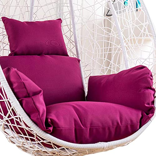 Weelmusic Swing Hanging Basket Seat Cushion, Non-Slip Chair Pads,Thicken Hanging Egg Chair Pads Hanging Egg Armchair Seat Cushion Swing Chair Pad for Patio, Deck, Yard, Garden Only Cushion