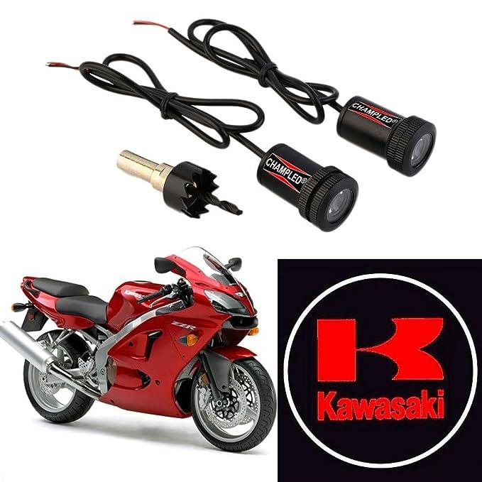 CHAMPLED For KAWASAKI Motorcycle Laser Projector Logo Illuminated Emblem  Under Door Step courtesy Light Lighting symbol sign badge LED Glow