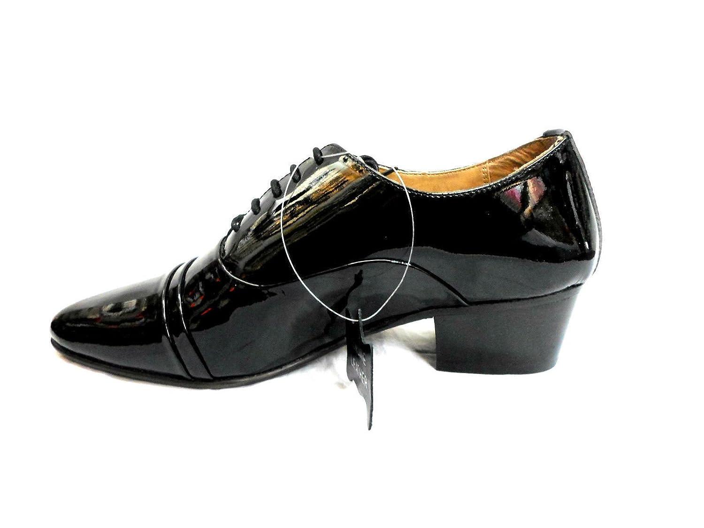 Lucini Zapatos cordones Hombre Puro Cuero Negro Matrimonio oficina Negro dPDcQig