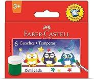 Tinta Guache 015ml 06 Cores Lavavel - Estojo com 12, Faber-Castell, HT161106L, Multicor