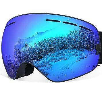 Gafas de esquí YAKAON Y1 para hombres y mujeres, lente polarizada REVO, corre antideslizante