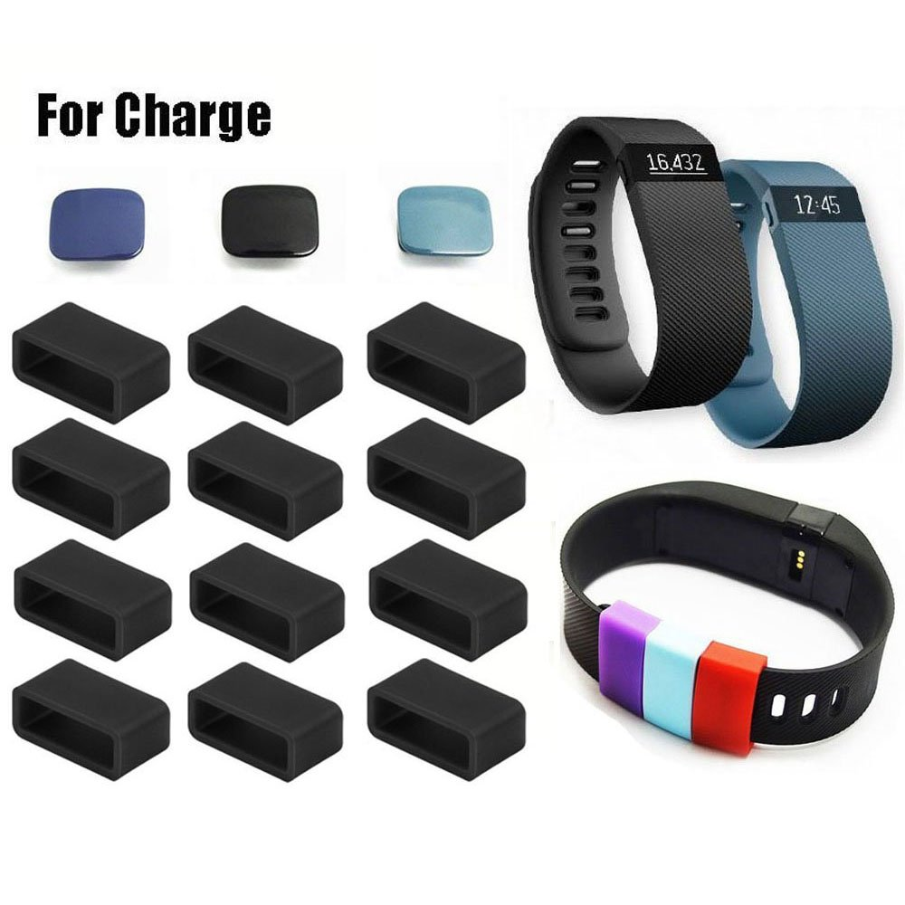 Fitbit Charge Fastener Ring, HWHMH 12pcs Silicon Fastener Ring with 3pcs Clasp for Fitbit Charge Wristband - Fix the Clasp Fall Off Problem - (Note: Tracker or Wristband Not Included)