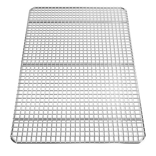Baking Sheet with Cooling Rack - Aluminum Half Size Cookie Sheet 18 Inch x 13 Inch for Oven Use by Culinary Depot (Image #4)