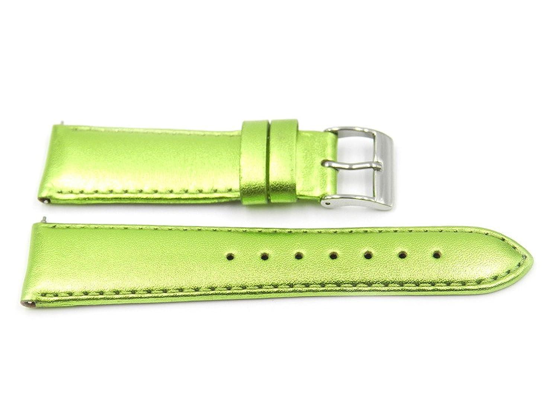 20 mmグリーンメタリックスタイルレザー腕時計バンド  B071L69N3G