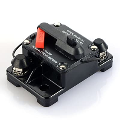 60 Amp Waterproof Car Auto Circuit Breaker Fuse Trolling with Manual Reset 12V-42V DC: Automotive