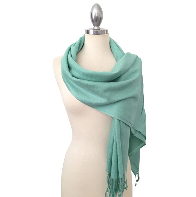 15a7b1da28b Califul Large Solid Colors Soft Pashmina Scarf Shawl Wrap Throw 100% Acrylic
