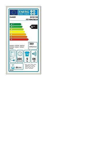 Candy CS H9A2DE-S - Secadora de bomba de calor 9Kgs, bomba de calor, cajón Easy Case, puerta XXL, certificado Woolmark, clase A++B, color blanco