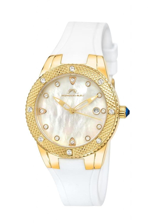 Porsamo Bleu Linda Silicone Gold Tone & White Women's Watch 491BLIR