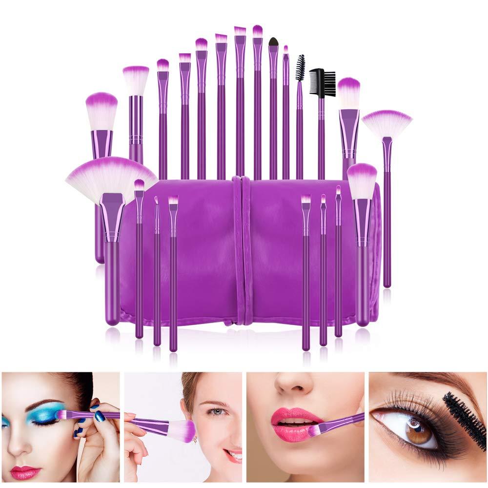 Makeup Brushes Set, Beautiful Purple Make Up Brushes Essential Beauty Tool Kits for Face Powder Cream Liquid Cosmetics Eyeshadow Blending: Beauty